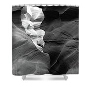 Slot Canyon Black And White Shower Curtain