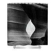 Slot Canyon - Monochrome Shower Curtain