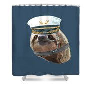 Sloth Monacle Captain Hat Sloths In Clothes Shower Curtain