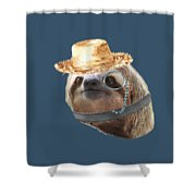 Sloth Monacle Straw Sloths In Clothes Shower Curtain