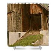 Slovenian Barn Shower Curtain