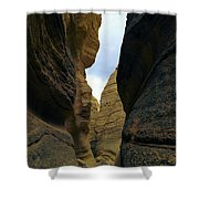 Slot Canyon Within The Tent Rocks Shower Curtain