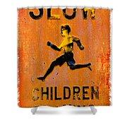 Slow Children Playing Shower Curtain
