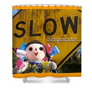 Slow Despacito Shower Curtain