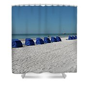 Slow Morging At The Beach Shower Curtain