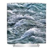 Slow Motion Rapids Shower Curtain