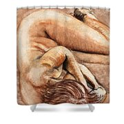 Slumber Pose Shower Curtain
