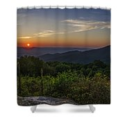 Skyline Drive National Park At Sunset Shower Curtain