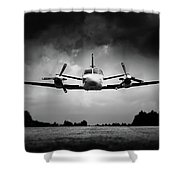 Small Airplane Low Flyby Shower Curtain