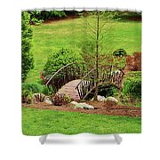 Small Arched Bridge Shower Curtain