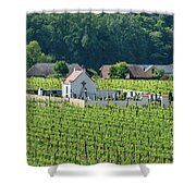 Small Austrian Cemetery  Shower Curtain