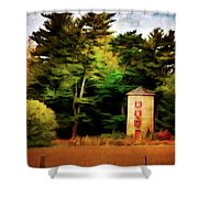 Small Autumn Silo Shower Curtain