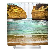 Small Bay Shower Curtain