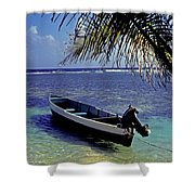 Small Boat Belize Shower Curtain