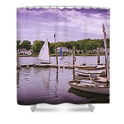 Small Boat Day Shower Curtain
