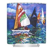 Small Boats Shower Curtain