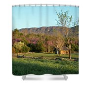 Small Cabin At Historic Martin's Station Shower Curtain