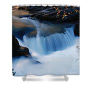 Small Cascade In Maligne Canyon Shower Curtain