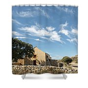 Small Chapel In The Hills Of The Balagne Region Of Corsica Shower Curtain