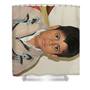 Small Child Images Shower Curtain