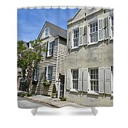 Small Colonial Style Homes Shower Curtain