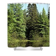 Small Country Pond Shower Curtain