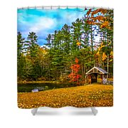 Small Covered Bridge Shower Curtain