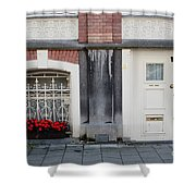 Small Door And Flower Box  Amsterdam Shower Curtain