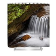 Small Falls At Governor Dodge State Park Shower Curtain