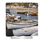 Small Fishing Boats Shower Curtain