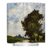 Small Floodplain Shower Curtain