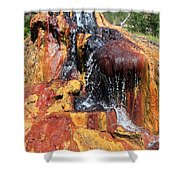 Small Geyser In Yellowstone Shower Curtain