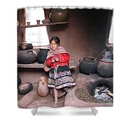 Small Girl Shower Curtain