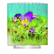 Small Group Of Violets Shower Curtain