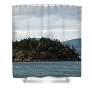 Small Island San Juans  Shower Curtain