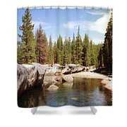 Small Lake Sierra Nevada Shower Curtain