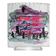 Small Landscape48 Shower Curtain