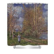 Small Meadows In Spring Shower Curtain