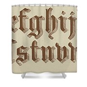 Small Old English Riband  Shower Curtain