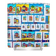 Small Paintings For Sale In La Boca Area Of Buenos Aires-argentina  Shower Curtain