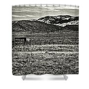 Small Ranch Colorado Foothills Shower Curtain