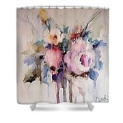Small Roses Shower Curtain
