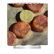 Small Round Stones Shower Curtain