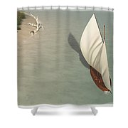 Small Sail Boat... Shower Curtain