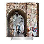 Small Stall In Cuenca Ecuador Shower Curtain