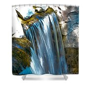 Small Stop Motion Waterfall Shower Curtain