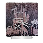 Small Tower 1 Shower Curtain