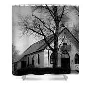 Small Town Church Shower Curtain