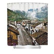 Small Town Ecuador Shower Curtain