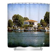 Small Town In Greece Shower Curtain